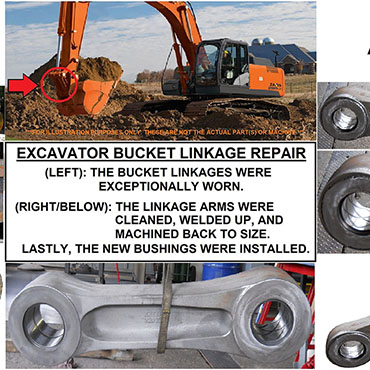 Excavator Linkage Repair Columbia Machine Company 1.jpg