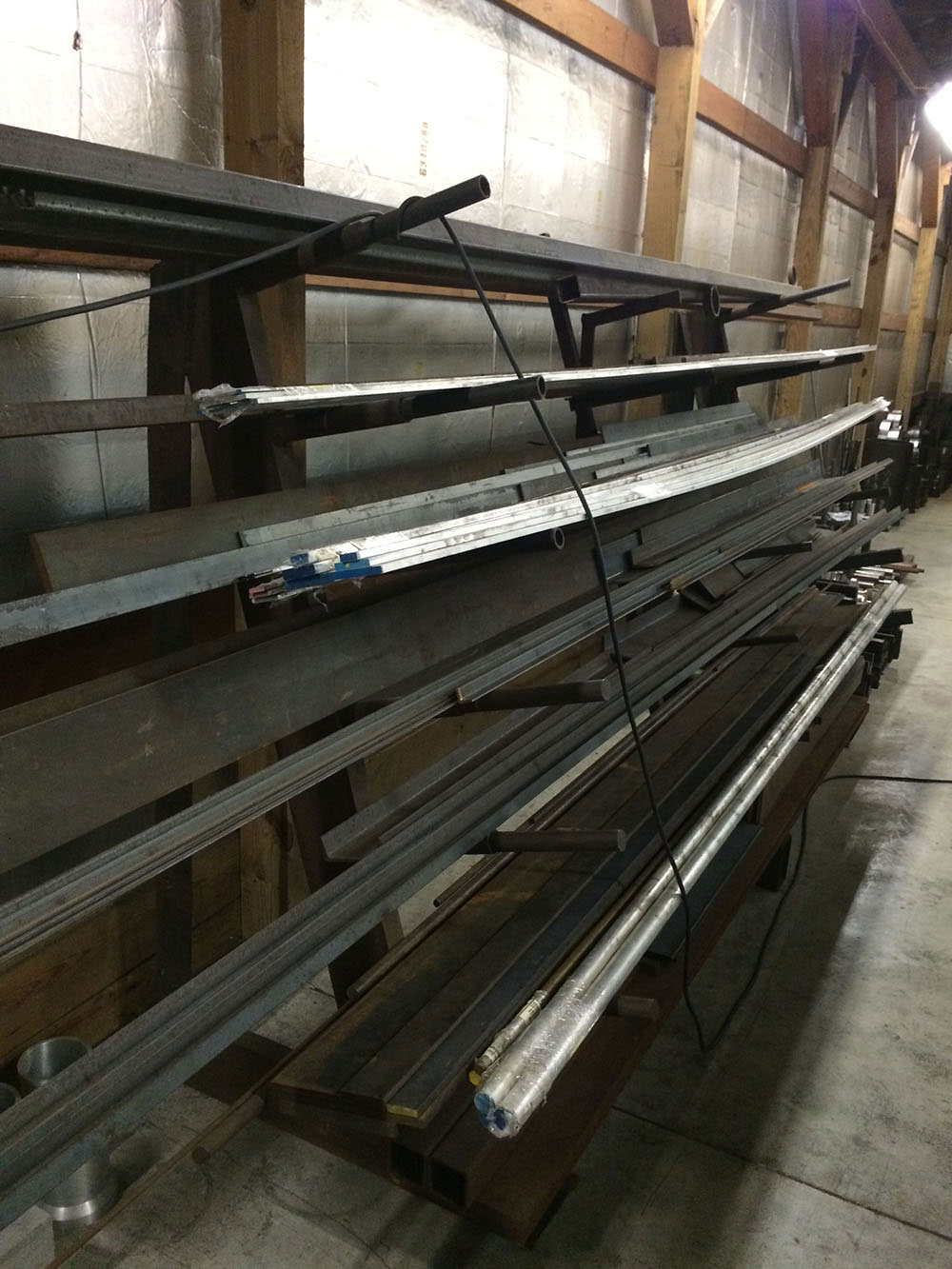 Hot Roll Flat Steel, Channel Iron, & Angle Iron Material Rack