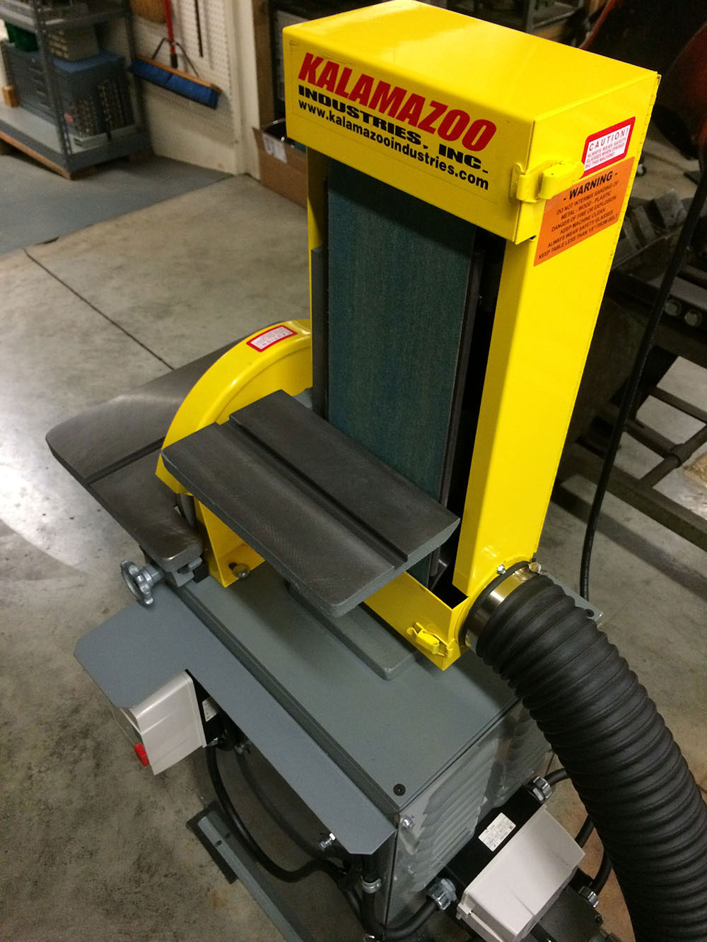 Kalamazoo Industries Combination Belt Sander with Vacuum Dust Collector