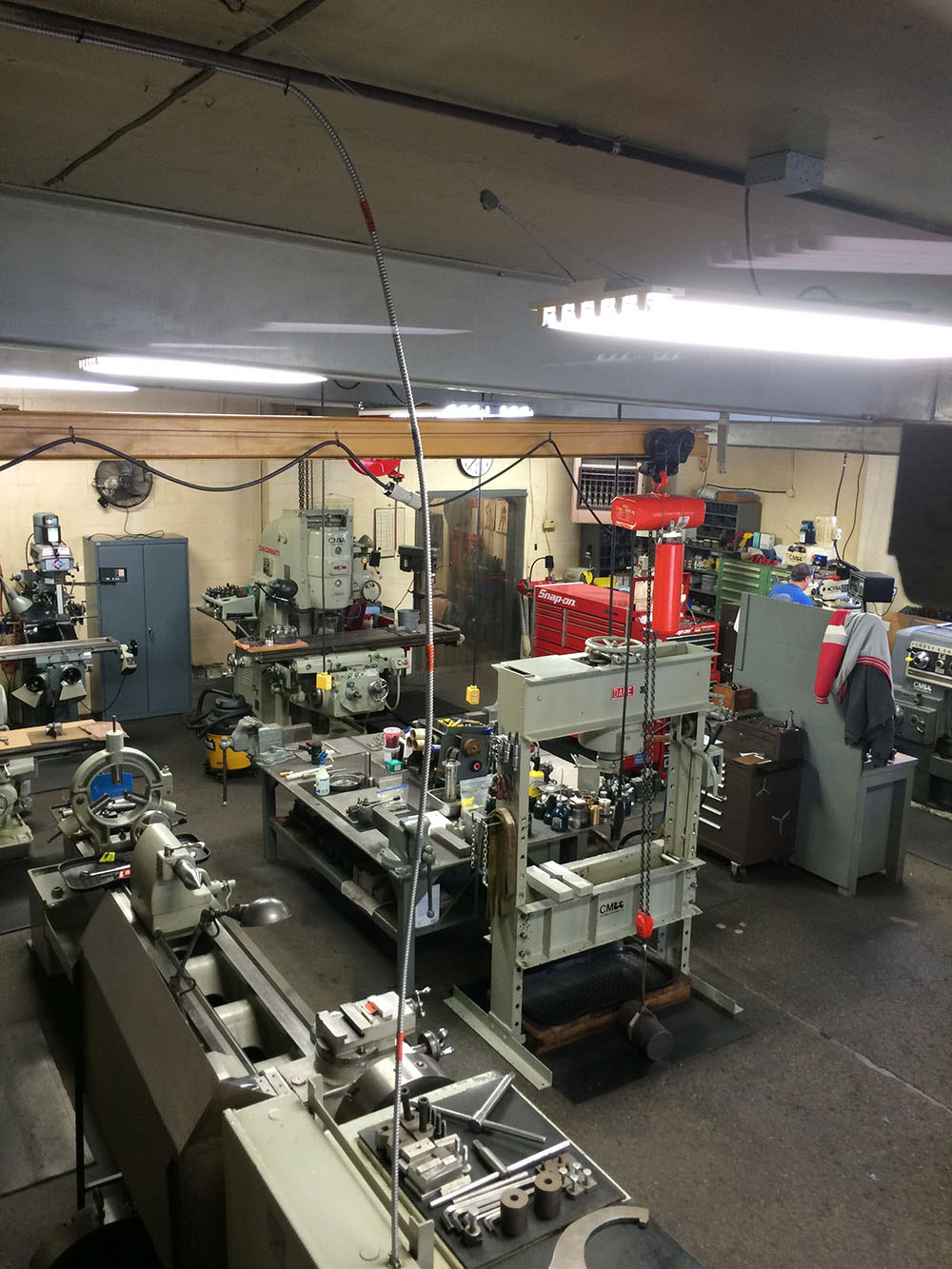 Machining Side of The Shop (From Loft)