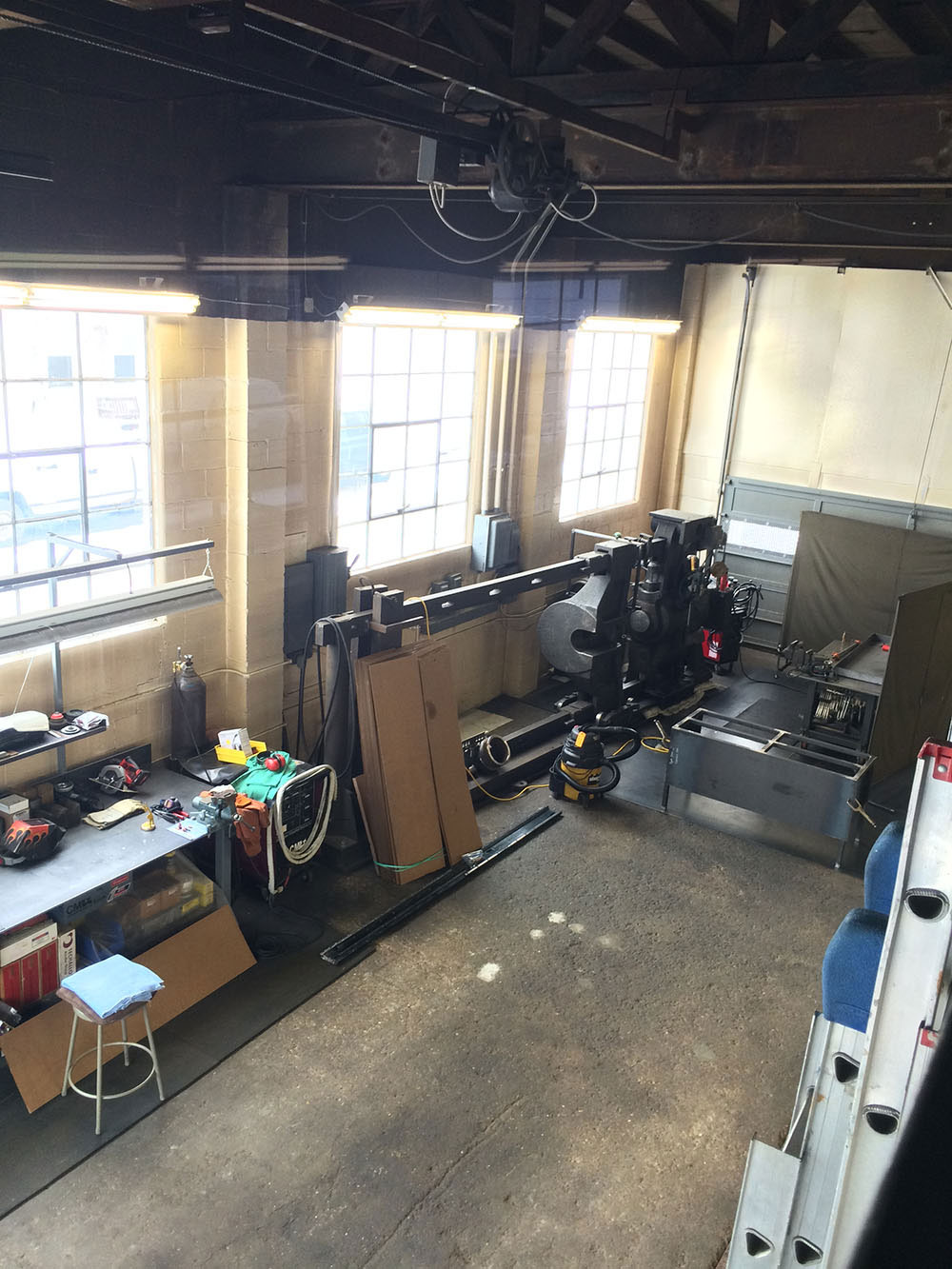 Overview of Shop Fabrication Side 1 (From Loft)