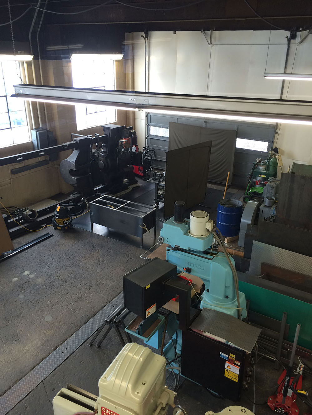 Overview of Shop Fabrication Side 2 (From Loft)